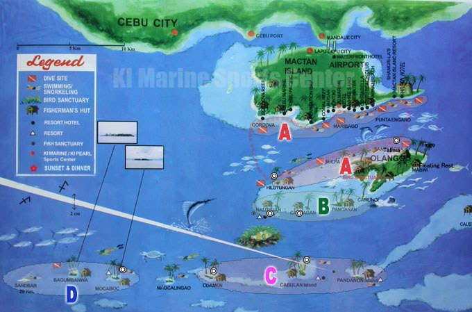 snorkeling site map